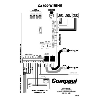spa 400 wiring diagram circuit board for lx100 11056  52823  compool accessories aqua  circuit board for lx100 11056  52823