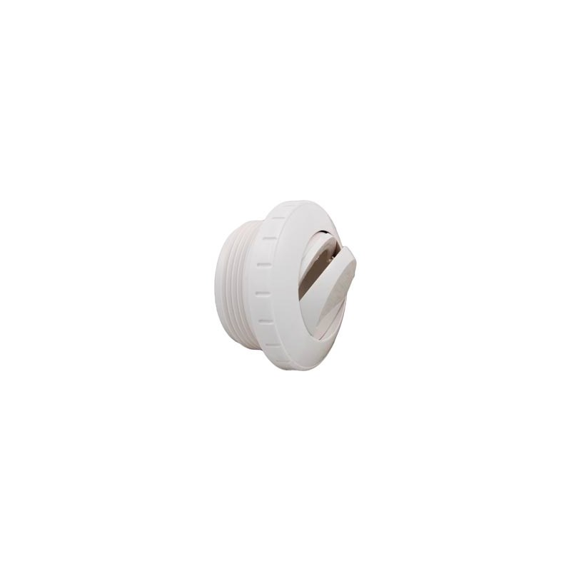 "Slotted Eyeball Fitting, 1-1/2"" MPT, White"