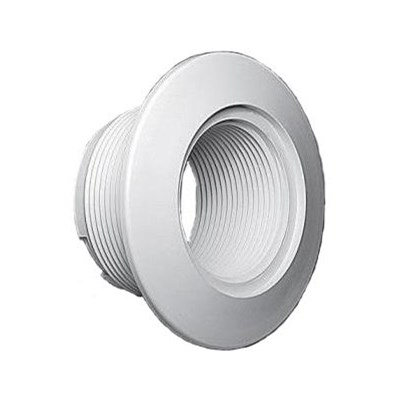 """1-1/2"""" FPT Thru Wall Fitting, White"""