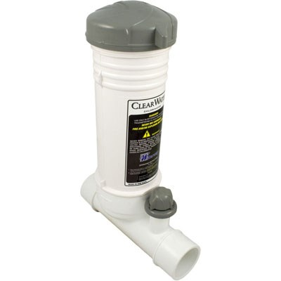 """Clearwater In-line Chemical Feeder 2"""" Socket, White"""