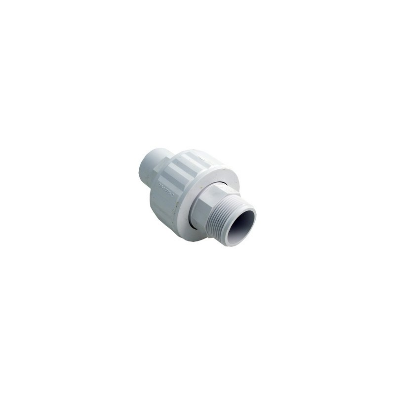 "1-1/2"" MPT x SLIP, Self-Aligning (ABS) *Male Slip* Fits Inside a 1.5"" Slip Fitting"