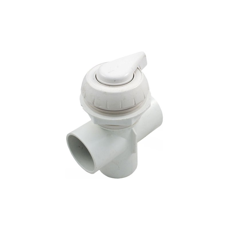 "2"" Notched Top Access Diverter Valve, White"