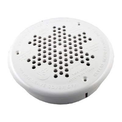 """10"""" Round PDR Main Drain Retro Kit (Fits Old A&A Frames) White"""