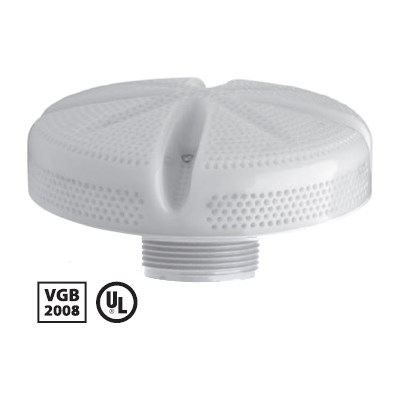 """Ultra Suction/Equalizer 6"""" - 1.5"""" MPT White"""