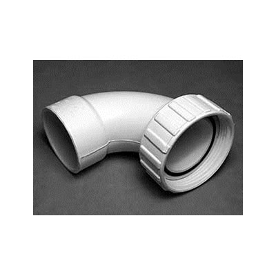 """2"""" Union Nut with 2"""" S Sweep Ell - 90° Tailpiece"""