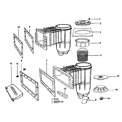 Face Plate-Widemouth Throat 18 x 8-3/4 (36159): PARTS
