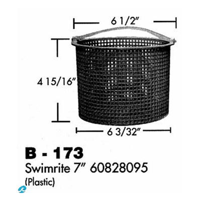 "Swimrite 7"" 60828095 Plastic Basketet"